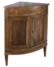| Antica angoliera  Italia XIX secolo | Italian Nineteenth Century walnut Corner table