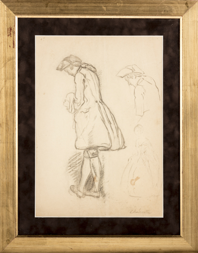 Federico Andreotti (Firenze 1847, Firenze 1958) | Figura matita | Figures