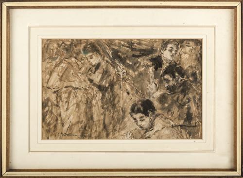 Lionello Balestrieri (Cetona 1872, Siena 1958) | Studio di figure | Study of figure