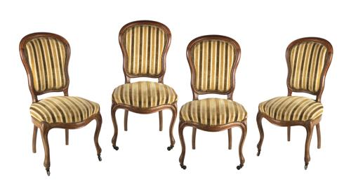 | Quattro sedie in noce XIX secolo | Four walnut Armchairs