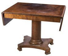 | Tavolo in mogano con alette a bandelle | Moghany Table