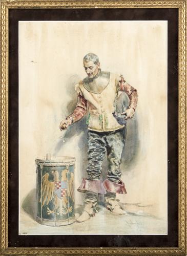 Salvador Sànchez Barbudo (Spagna 1857, Spagna 1952) | Il Gioco dei dadi | The Dice