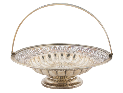 | Cestino traforato in metallo argentato | Silver-plated metal basket