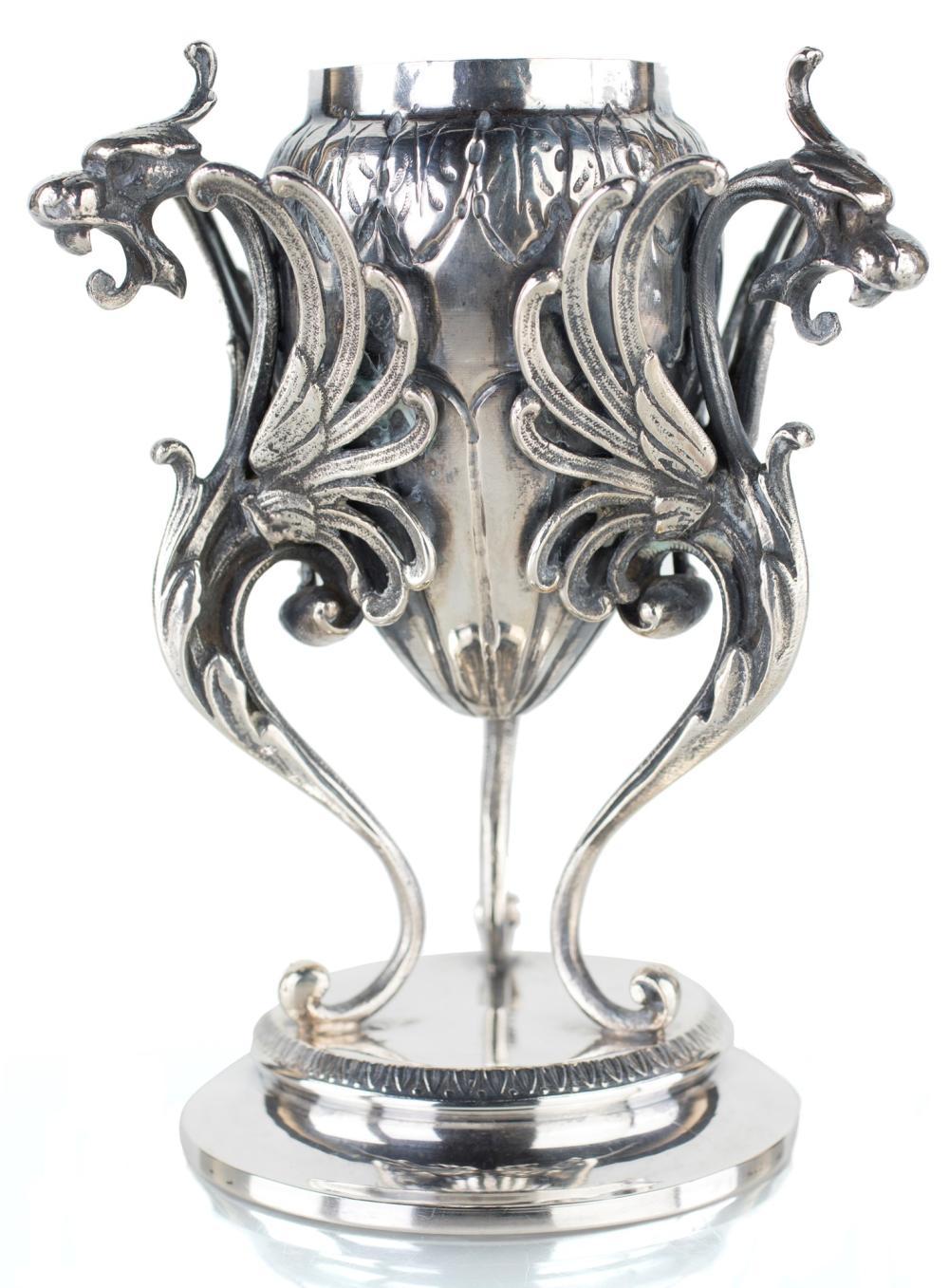 SILVER PERFUME JAR, LATE 19TH CENTURY