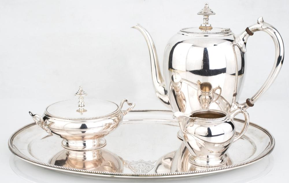 COFFEE SERVICE IN 833/1000 SILVER, HOLLAND, THIRTIES