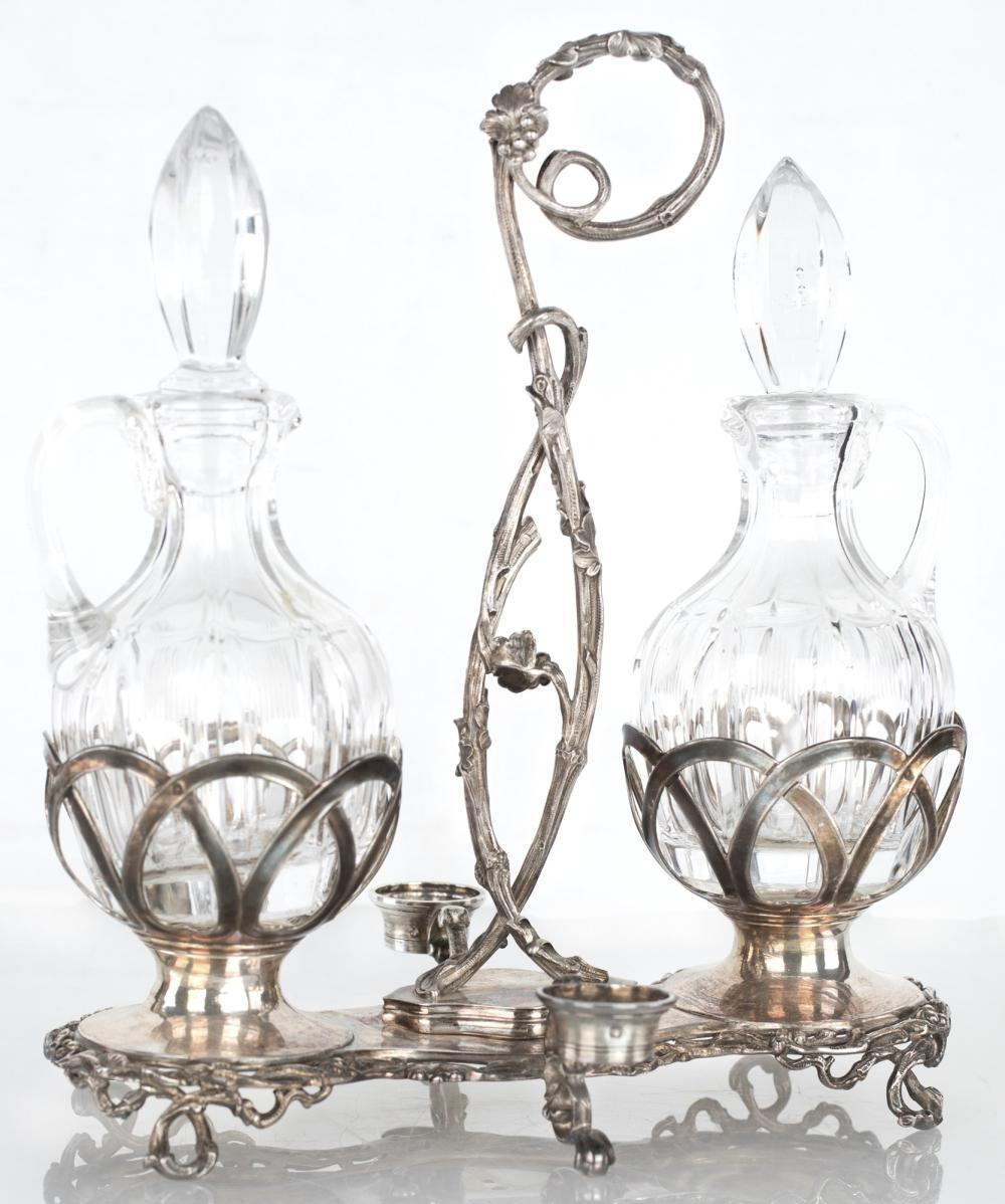 SILVER CRUET, FRANCE, AFTER 1838, SILVERSMITH A. COSSON
