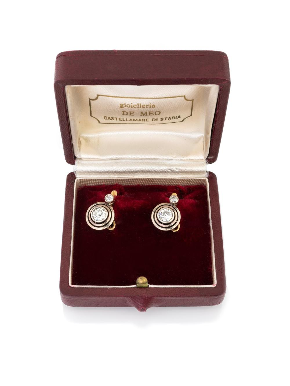 Lot 243: DIAMOND EARRINGS