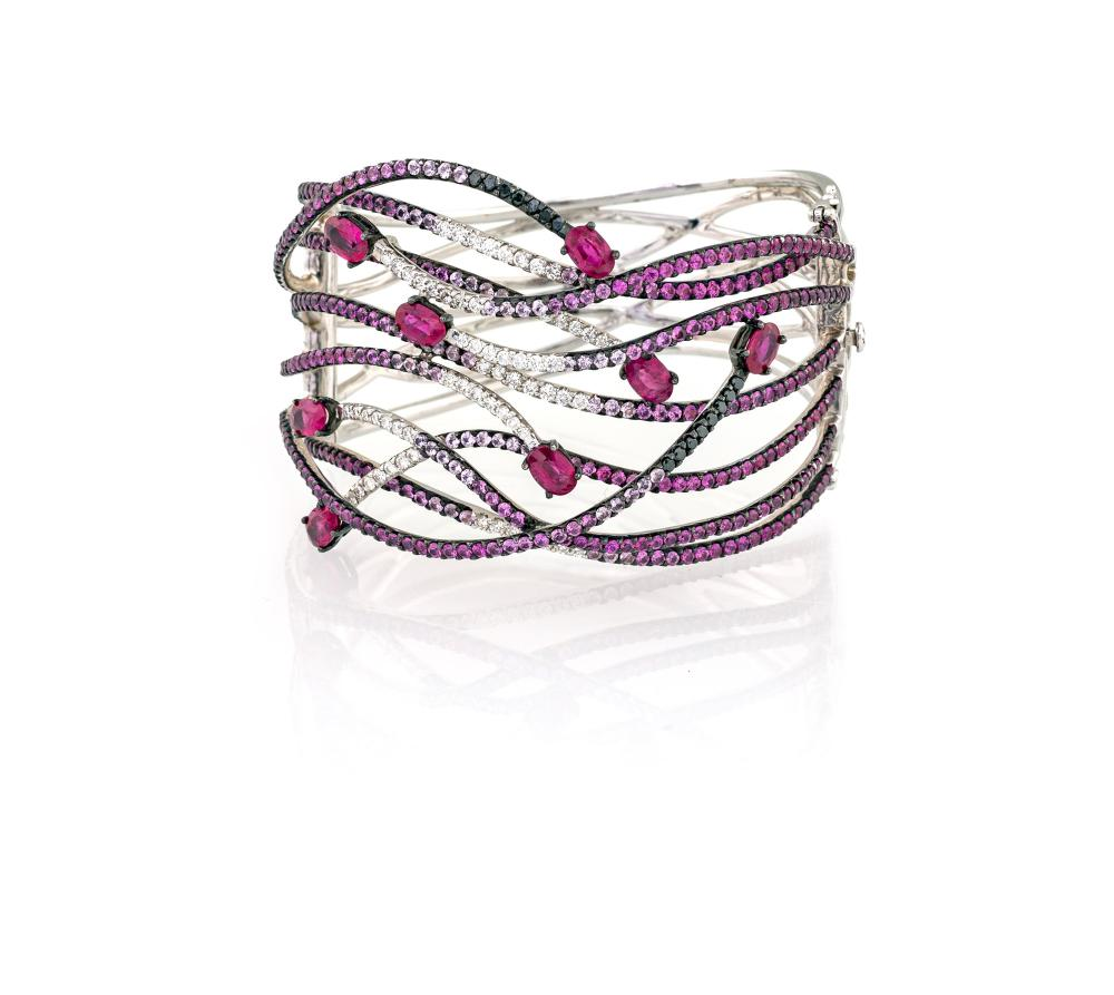 RIGID BRACELET WITH RUBIES