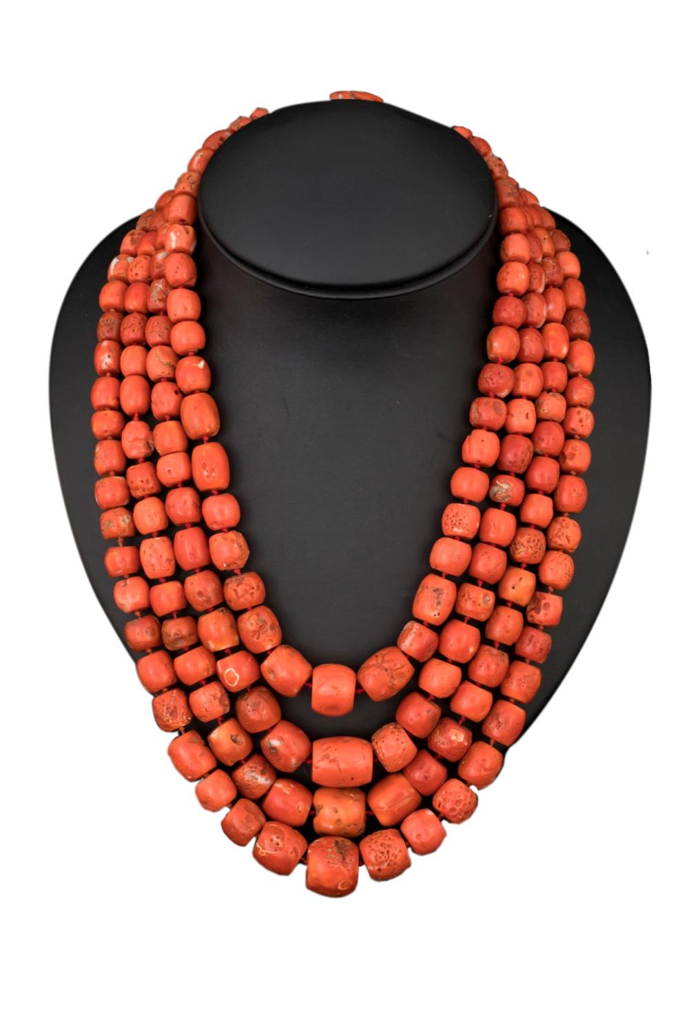 ANCIENT MEDITERRANEAN CORAL NECKLACE