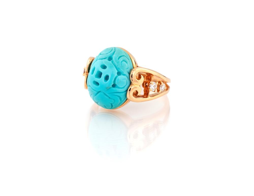 Lot 363: TURQUOISE RING
