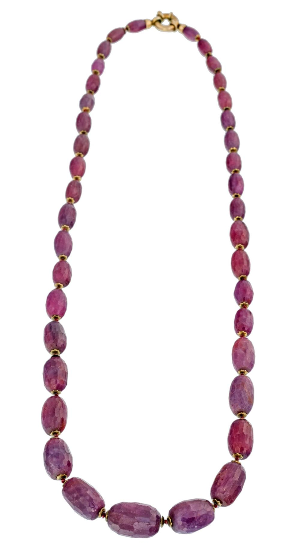 RED CORINDUM NECKLACE