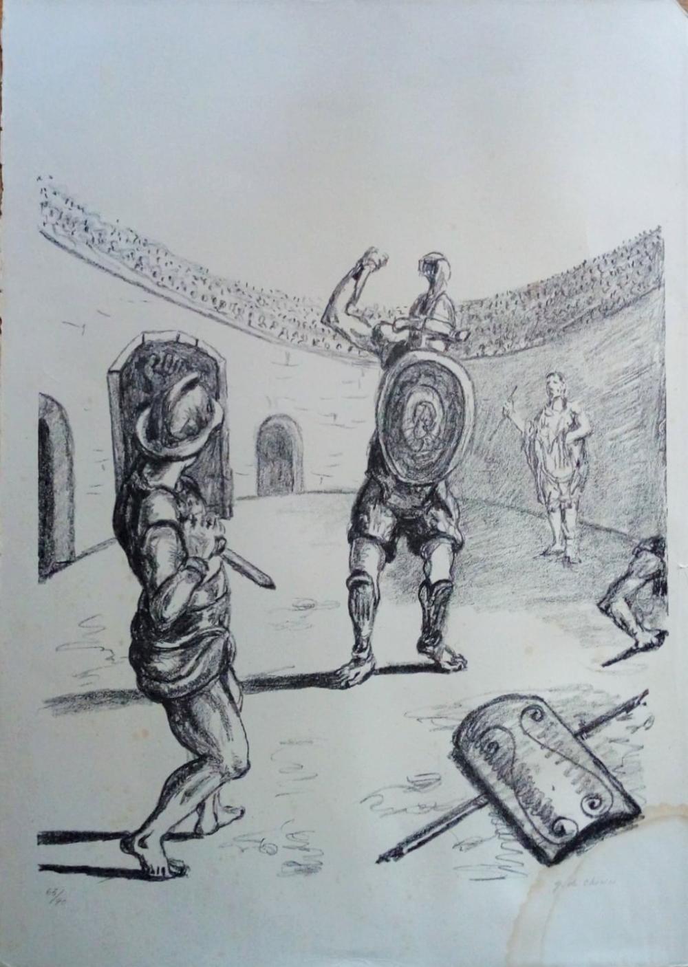 De Chirico Giorgio - I gladiatori nell'arena