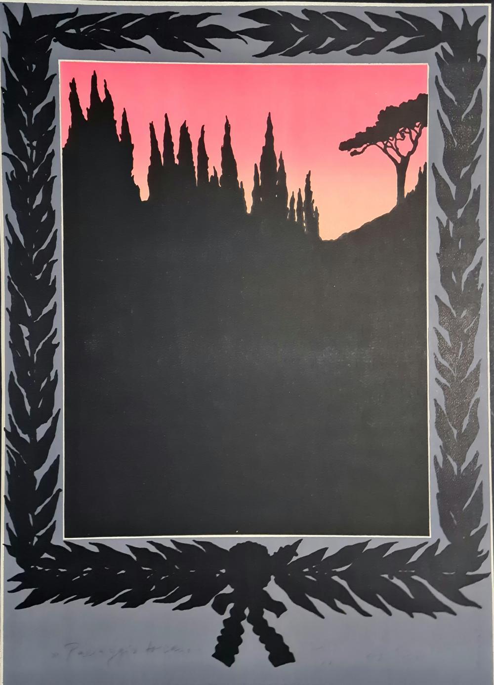 Schroder Wolfgang - Paesaggio fiorentino, 1972
