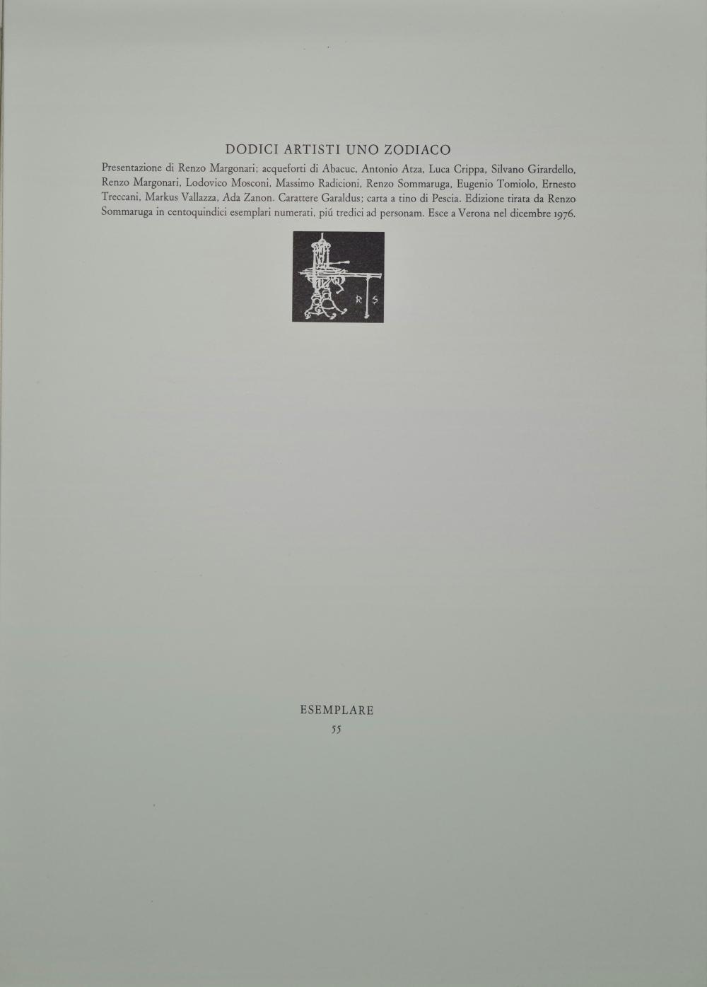 Autori vari - Dodici artisti uno Zodiaco, 1976