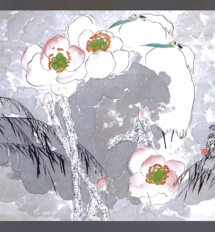 CHINESE PAINTING OF LOTUS