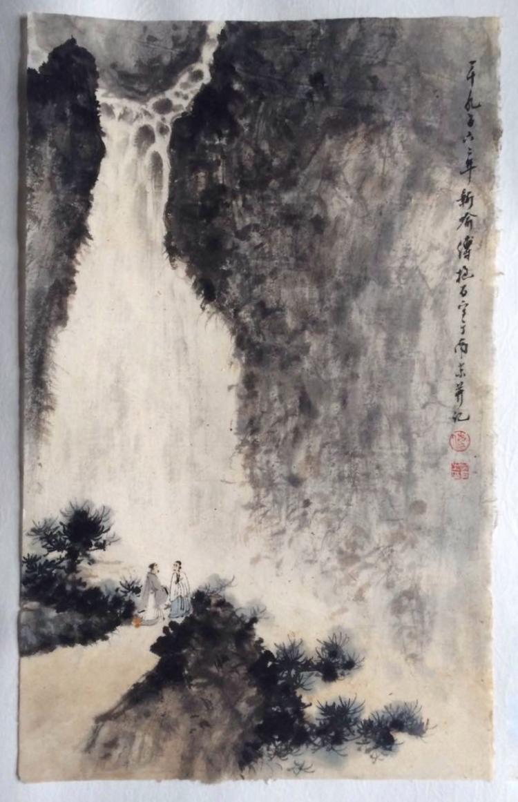 CHINESE PAINTING MARKED FUBAOSHI