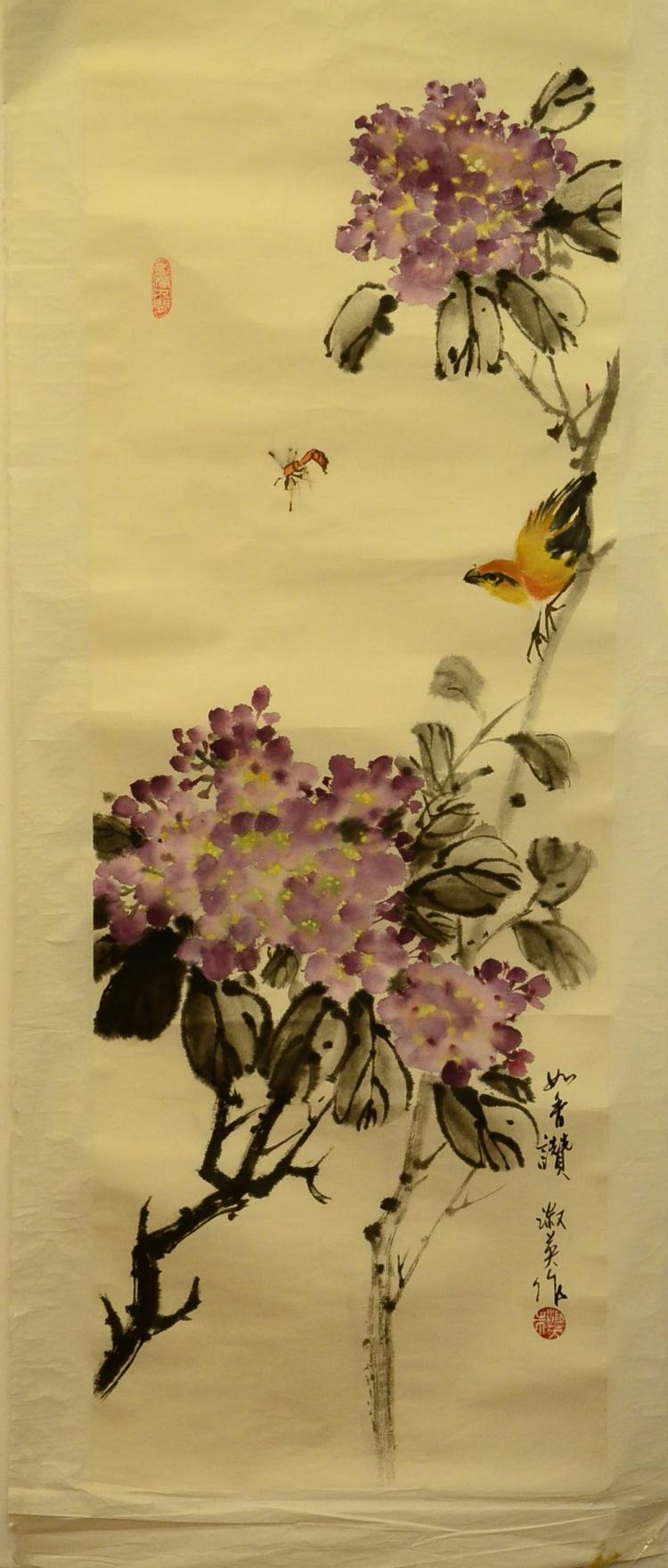 PAINTING OF FLOWERS, MARKED ZHUSHUYING