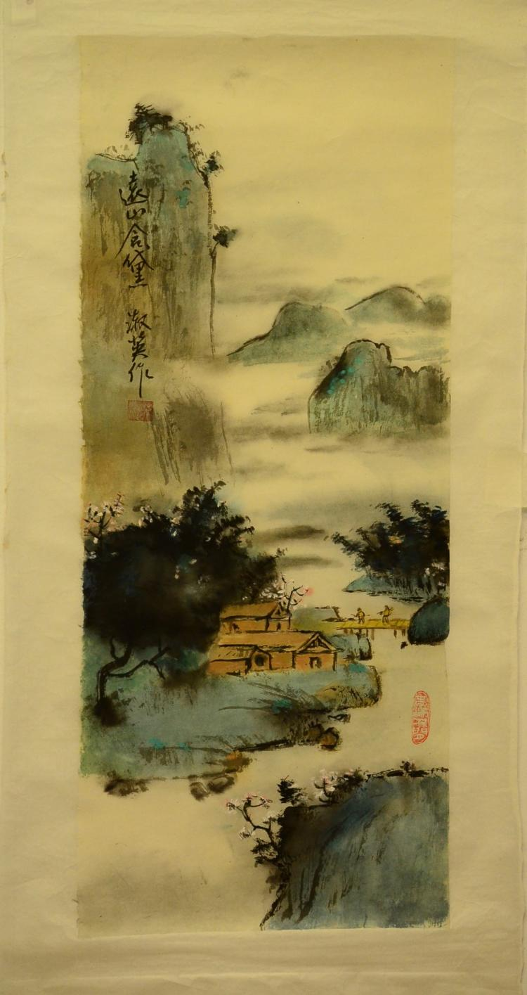 PAINTING OF LANDSCAPE, MARKED ZHUSHUYING