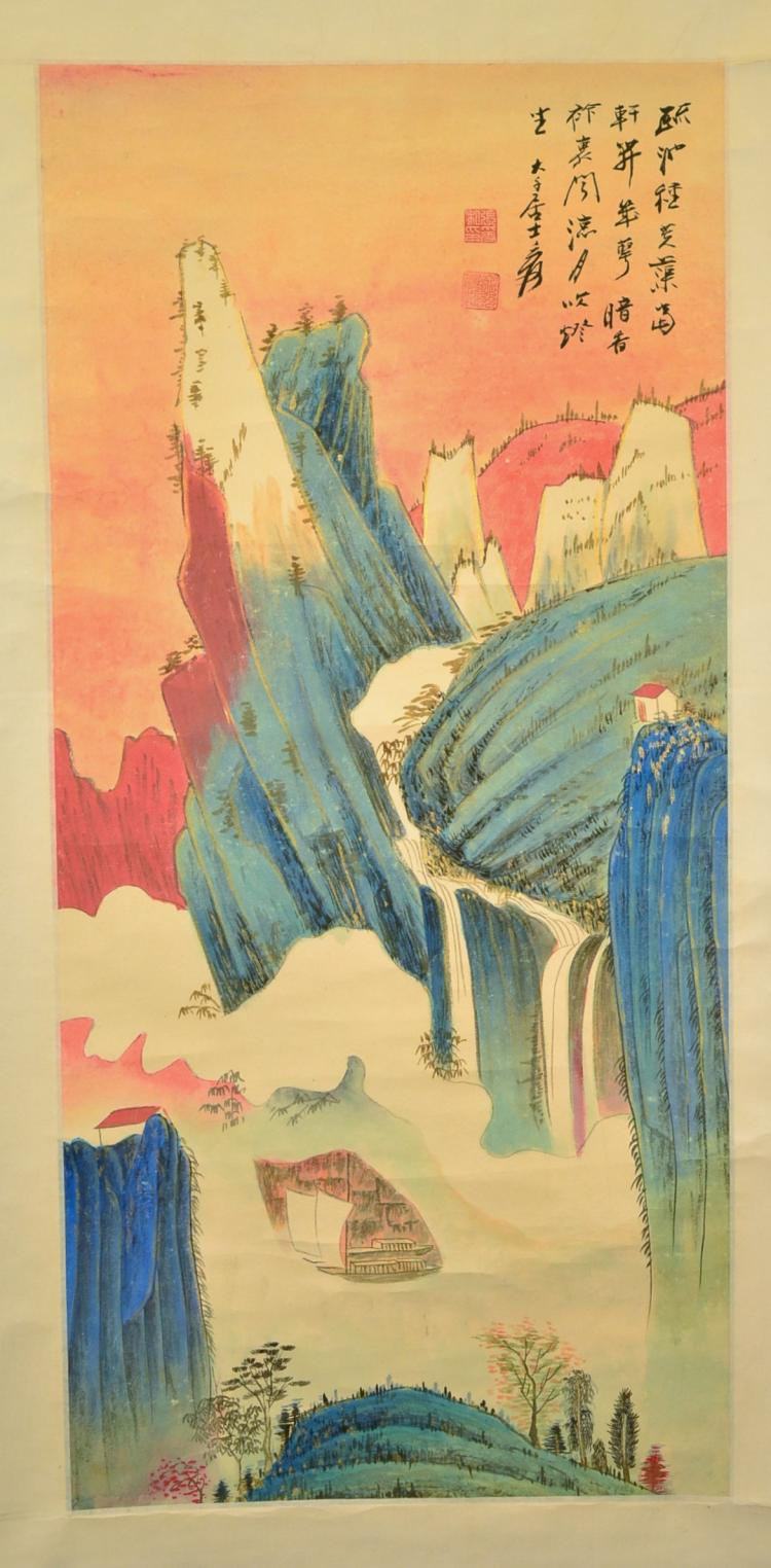 A CHINESE PAINTING OF LANDSCAPE,