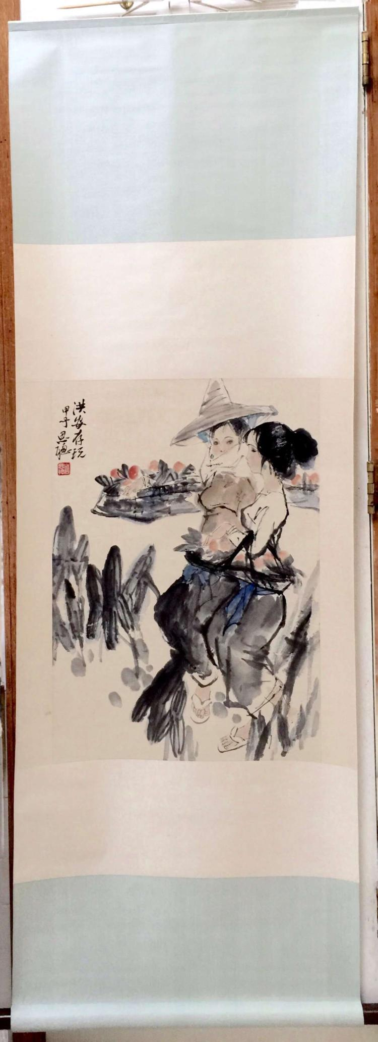CHINESE PAINTING MARKED ZHOUSICONG