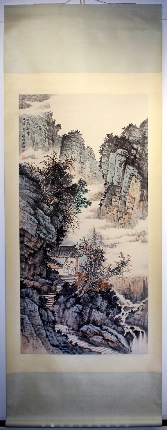 CHINESE LANDSCAPE PAINTING MARKED YUANSONGNIAN