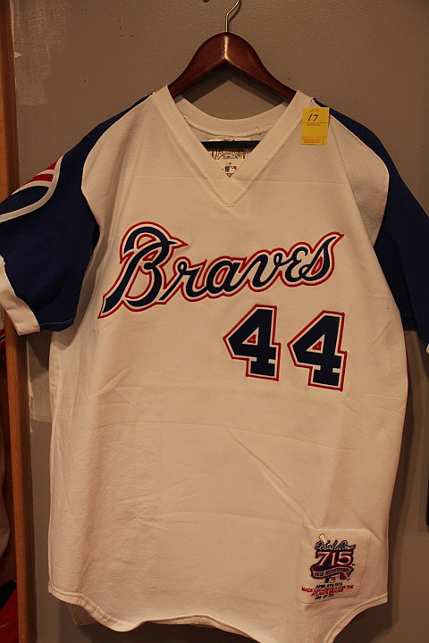 Braves Hank Aaron #44 Jersey Throwback Cooperstown Collection.