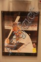 Mickey Mantle Hand Signed Photo Mounted on Board & Engraved.