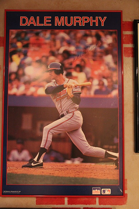Braves-Dale Murphy Poster Hand Signed 1987