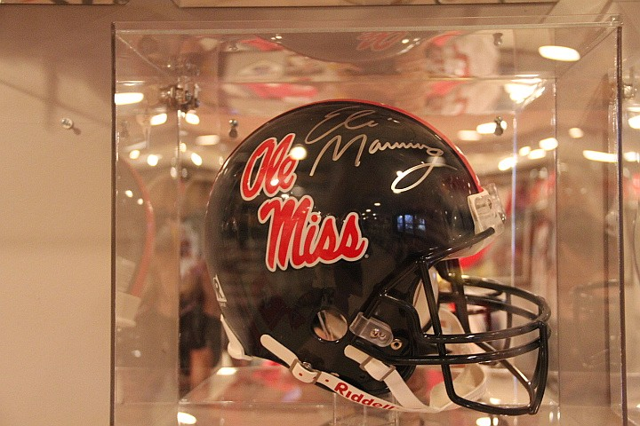 Ole Miss Helmet Signed by Eli Manning