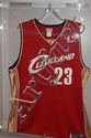 Lebron James Autographed Cleveland Embroidered Away Jersey
