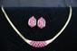 Ruby & Diamond Necklace & Earrings Set