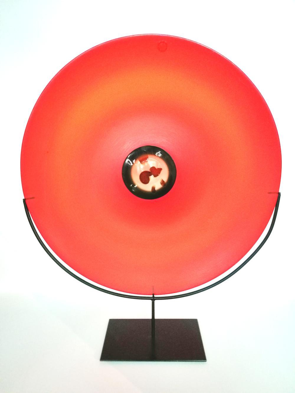 """Plate from the """"Pianeti"""" series. Venini, Murano"""