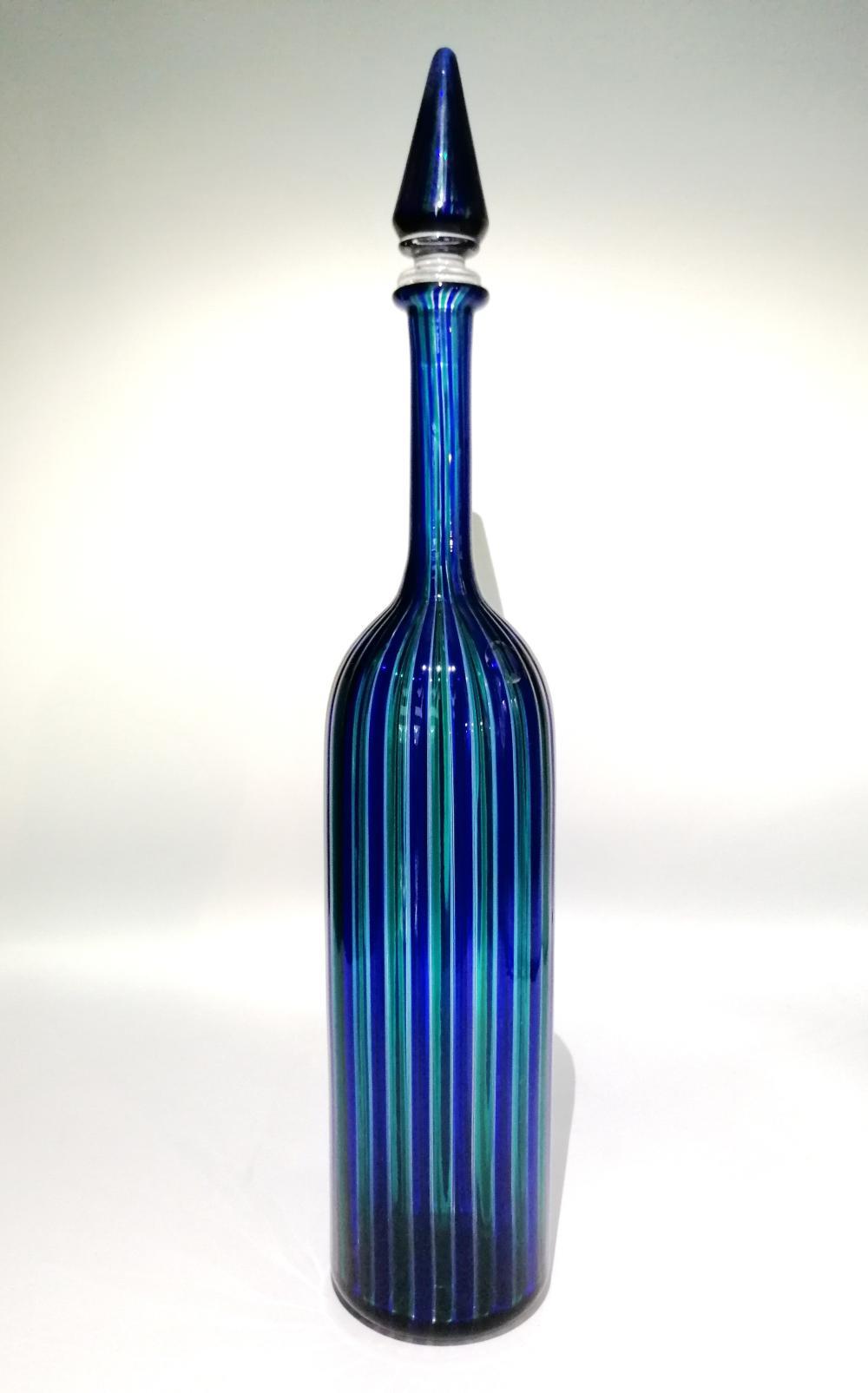 Reed bottle. Venini, Murano