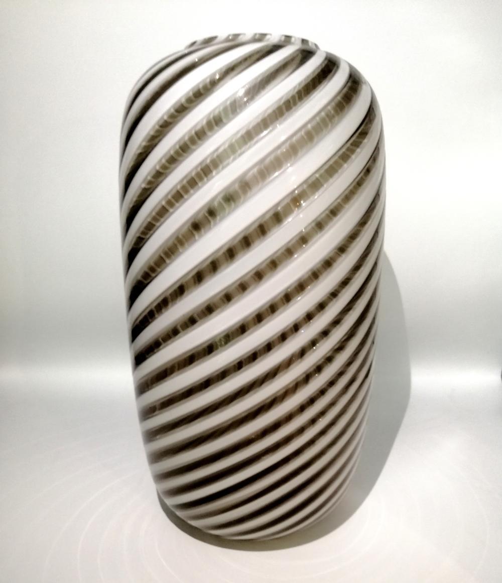 Twisted cane vase. Venini, Murano
