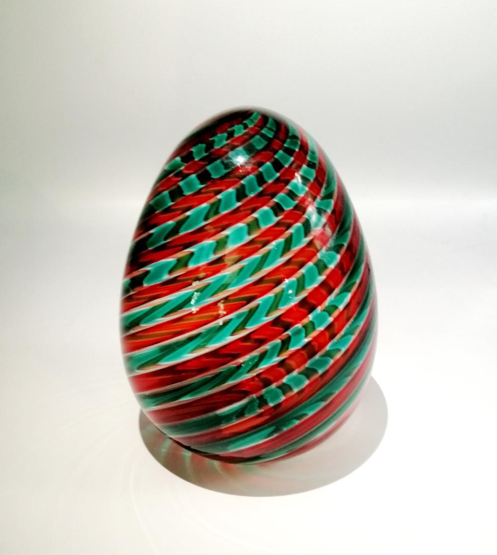 Twisted reed egg. Venini, Murano