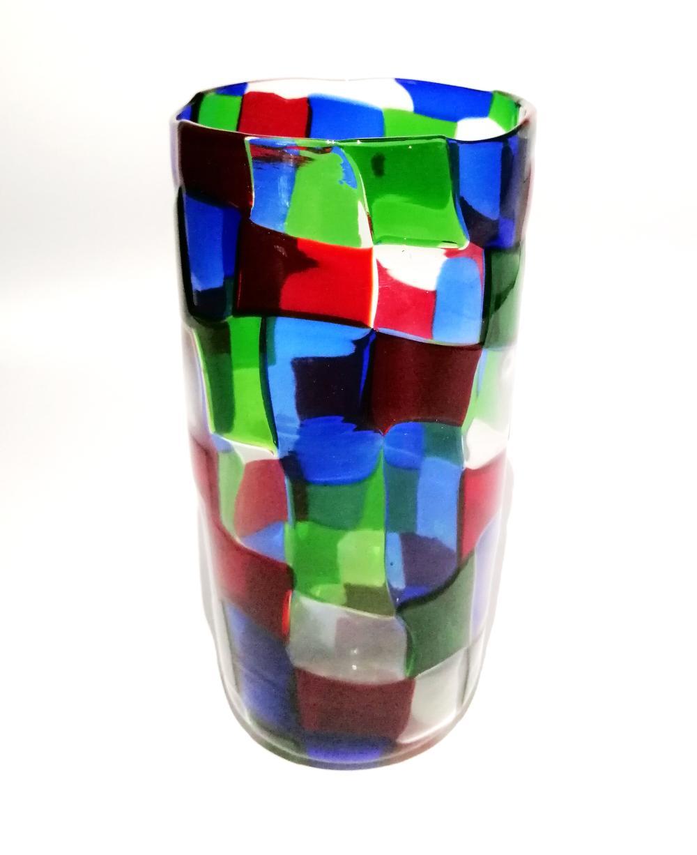 Pezzati series vase. Venini, Murano