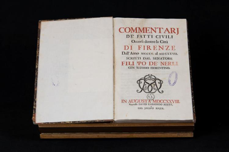 Nerli (de') F. - DE' FATTI CIVILI DI FIRENZE (1215-1537)