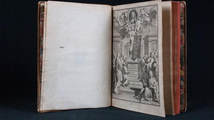 FEDRO Caio Giulio e (HOOGSTRATEN David van) - Fabularum aesopiarum libri V. Notis illustrravit in usum serenissimi Principis Nassavii.