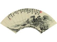 Wu Li (1632-1718) Mountain Youqu Figure