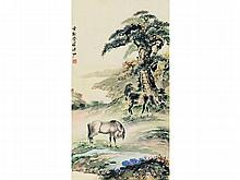 Pu Zuo (1918-2001) Songma Figure