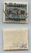 GNR VERONA - 1944 - GNR Verona - 60 cent (54 - Segnatasse) - usato - cert. Sorani (2.200)