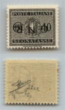 GNR VERONA - 1944 - GNR Verona - Errore di Colore - 40 cent (52A - Segnatasse) con soprastampa capovolta - gomma integra - Sorani (1.000)