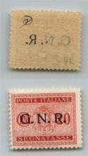 GNR VERONA - 1944 - GNR Verona - 20 cent (49 - Segnatasse) con decalco parziale (.R.) - gomma integra - non catalogato