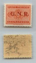 GNR VERONA - 1944 - GNR Verona - Errore di Colore - 30 cent (51A - Segntasse) - gomma integra - Sorani (1.200)