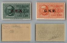GNR VERONA - 1944 - GNR Verona - Espressi (19/20) serie completa - gomma integra - cert. Raybaudi (750)