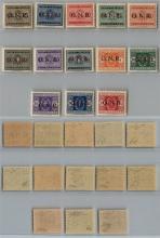 GNR VERONA - 1944 - GNR Verona - Segnatasse (47/59) - serie completa - gomma integra - raro insieme (normalmente misto con Brescia nelle collezioni) sottoquotato - Oliva + Raybaudi + cert. AG (3.750)