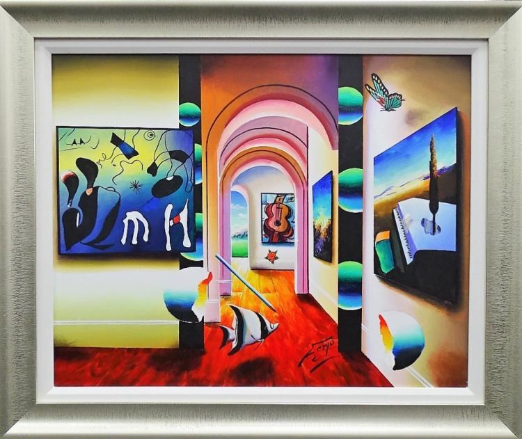 Ferjo Original Large Oil Painting Framed