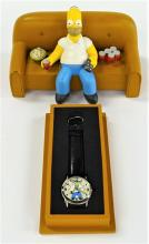 THE SIMPSONS L/E FOSSIL WATCH HOMER ON THE COUCH
