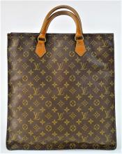 VINTAGE LOUIS VUITTON MONGRAM LEATHER TOTE BAG
