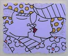 ORIGINAL ROMERO BRITTO TITLED 'THE KISS' LITHO
